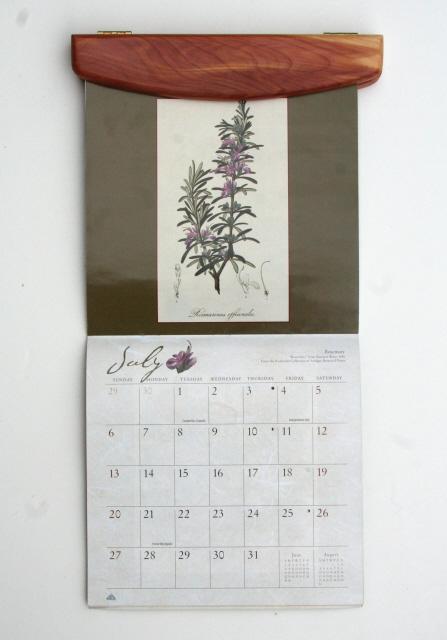 Calendar Wood Holder : Calendar holders or wall hangers solid wood